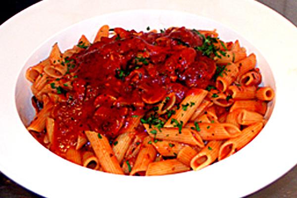 Penne with Tomato Mushroom Sauce