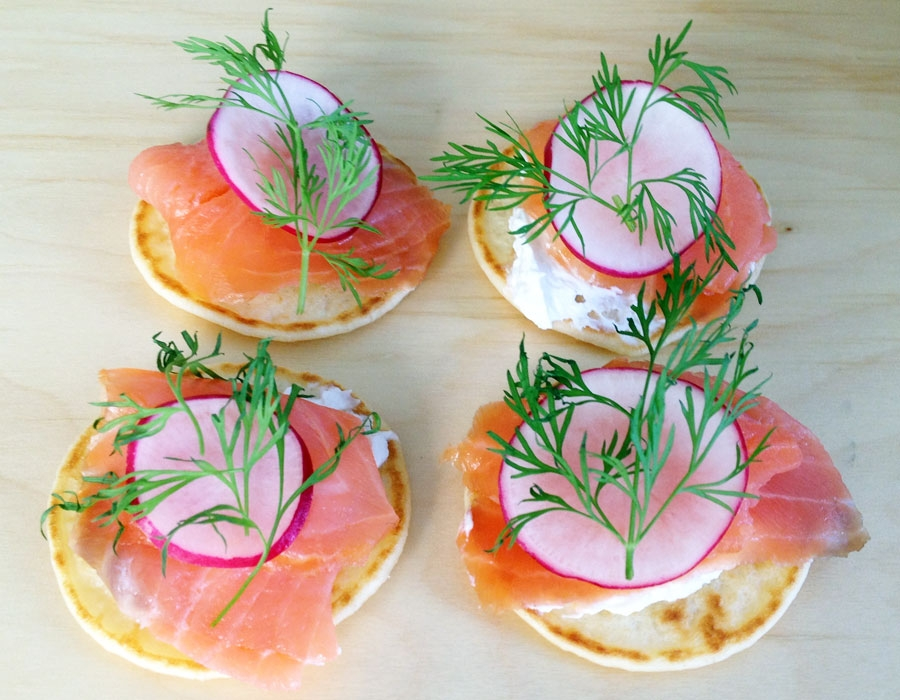 Salmon Canapes 1